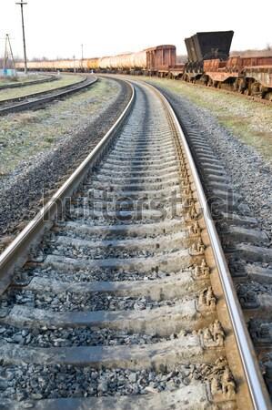 Ferrovia estrada luz indústria vermelho acelerar Foto stock © mycola