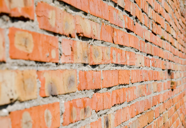 red brick wall as background Stock photo © mycola