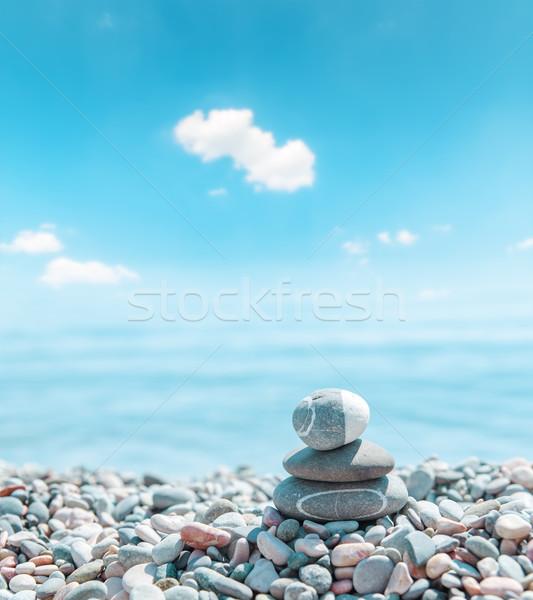 zen stone stack near sea Stock photo © mycola