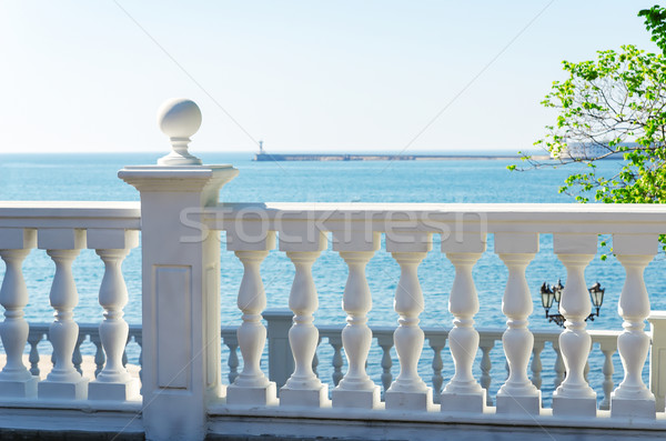 view to the sea from a balcony Stock photo © mycola