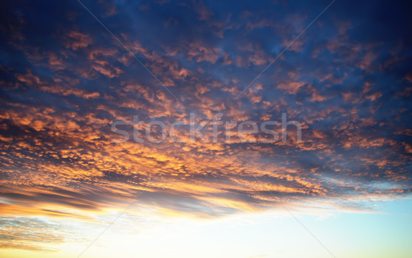 dramatic lighted clouds Stock photo © mycola