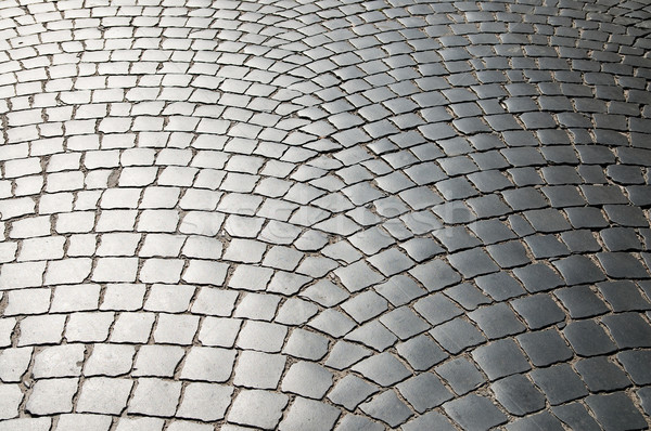 Cobbled road as background Stock photo © mycola