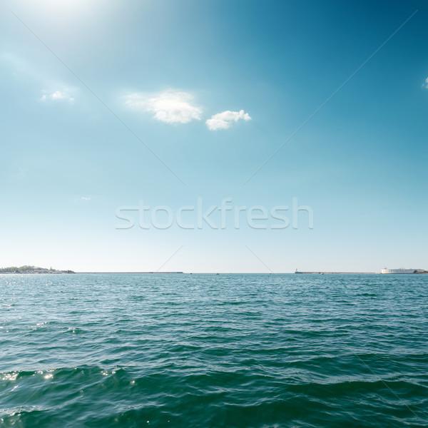 Azul mar céu nuvens luz fundo Foto stock © mycola