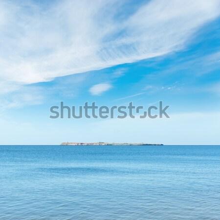 Niebieski morza niebo wyspa horyzoncie wody Zdjęcia stock © mycola