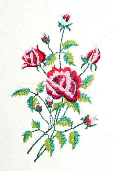 embroidered handmade good by cross-stitch pattern Stock photo © mycola