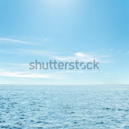 Blau Meer Wolken Himmel Landschaft Hintergrund Stock foto © mycola