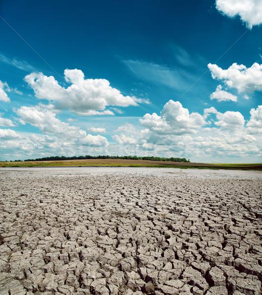Droogte aarde dramatisch hemel textuur abstract Stockfoto © mycola
