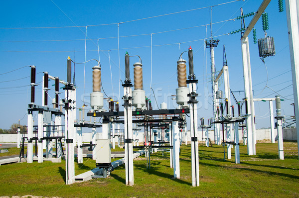 view to high voltage substation Stock photo © mycola