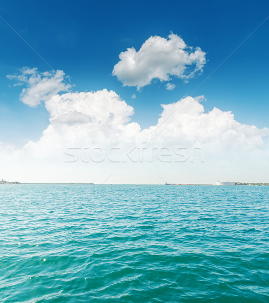 white clouds and turquoise sea Stock photo © mycola