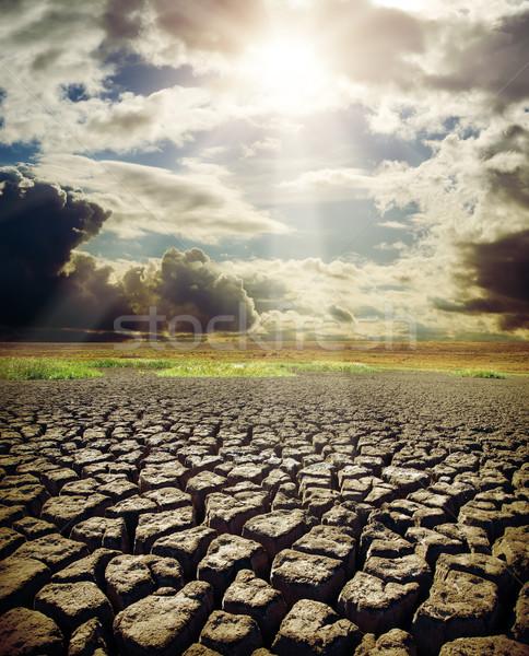 ストックフォト: 湖 · 劇的な · 空 · 太陽 · 自然