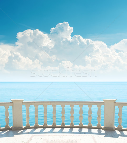 Foto stock: Varanda · mar · nuvens · água · paisagem · beleza