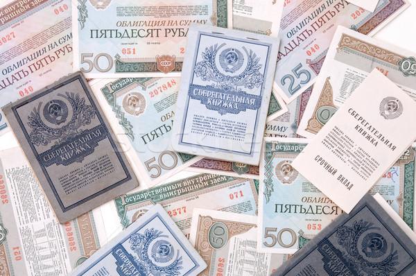 Verouderd geld textuur wereld achtergrond veiligheid Stockfoto © mycola