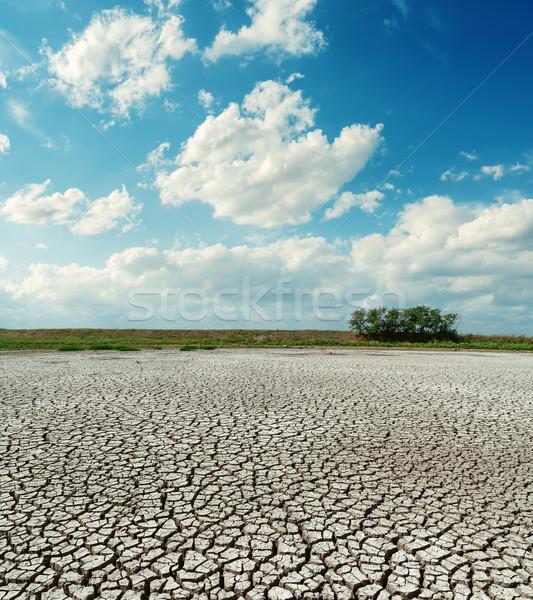 Repedt sivatag alacsony felhők fekete felhő Stock fotó © mycola