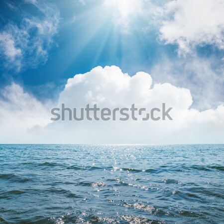 dramatic sky with clouds over dark sea Stock photo © mycola