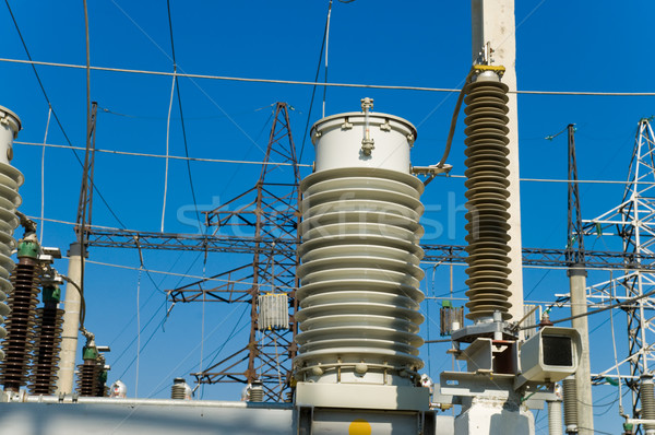 disconnecting switch on high-voltage substation Stock photo © mycola