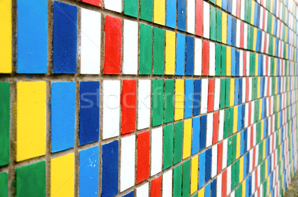 vanishing colored wall Stock photo © mycola