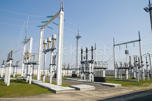 égbolt hálózat ipar ipari elektromosság áramkör Stock fotó © mycola