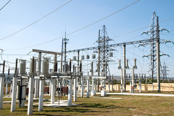 general view to high-voltage substation Stock photo © mycola