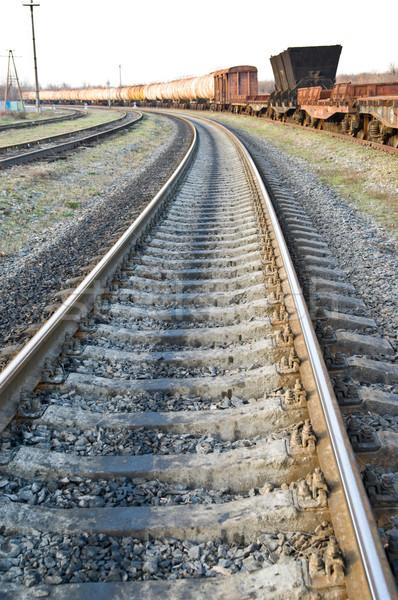 railroad to horizon Stock photo © mycola