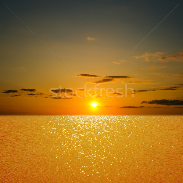 sunset over river Stock photo © mycola