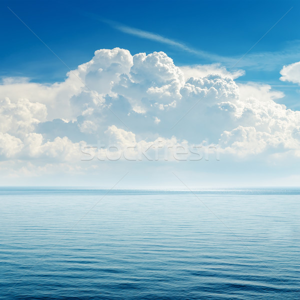 blue sea and cloudy sky over it Stock photo © mycola