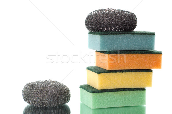 group of multi-colored sponges Stock photo © mycola