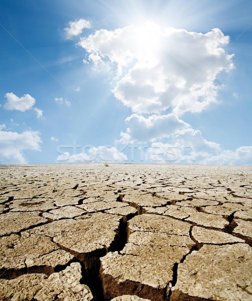 Globális felmelegedés fény nyár kosz levegő horizont Stock fotó © mycola