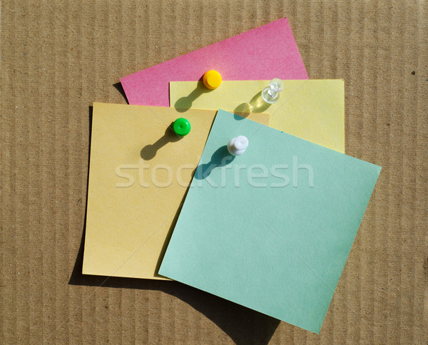 color notepaper and clips Stock photo © mycola