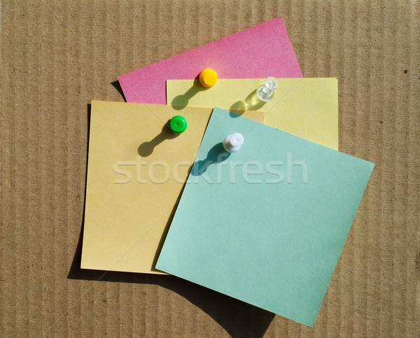 Farbe Briefpapier Schule Bildung Bord Merkzettel Stock foto © mycola