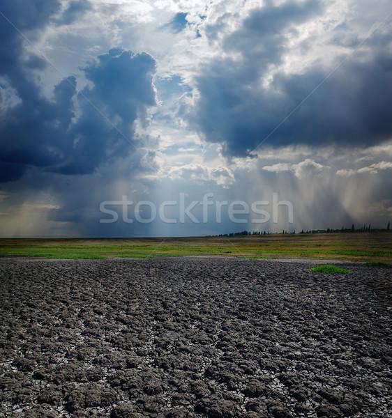 Droogte aarde dramatisch hemel natuur licht Stockfoto © mycola