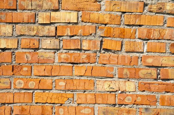 Stock fotó: Piros · téglafal · keret · kő · élet · tégla