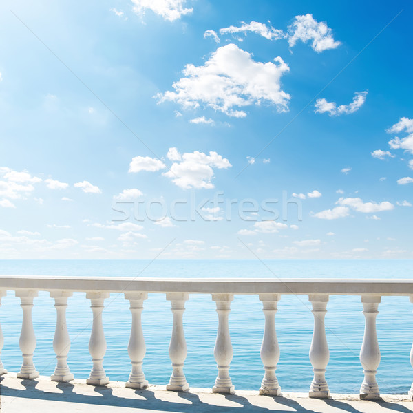 clouds over sea. view from terrace with balcony Stock photo © mycola