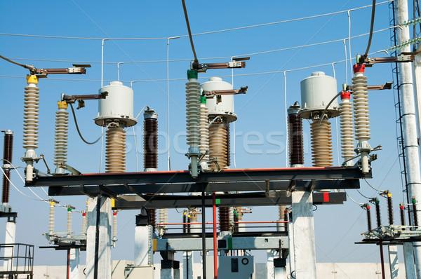 Tecnologia metal azul indústria industrial energia Foto stock © mycola