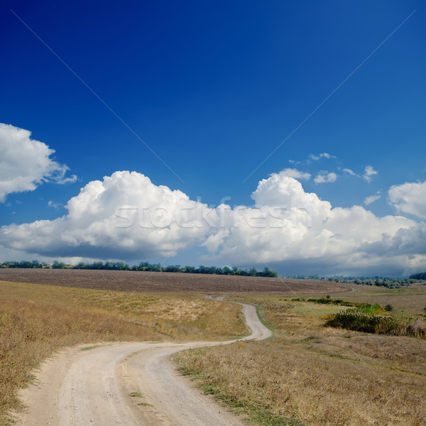 rural road under dramatic cloudy sky Stock photo © mycola
