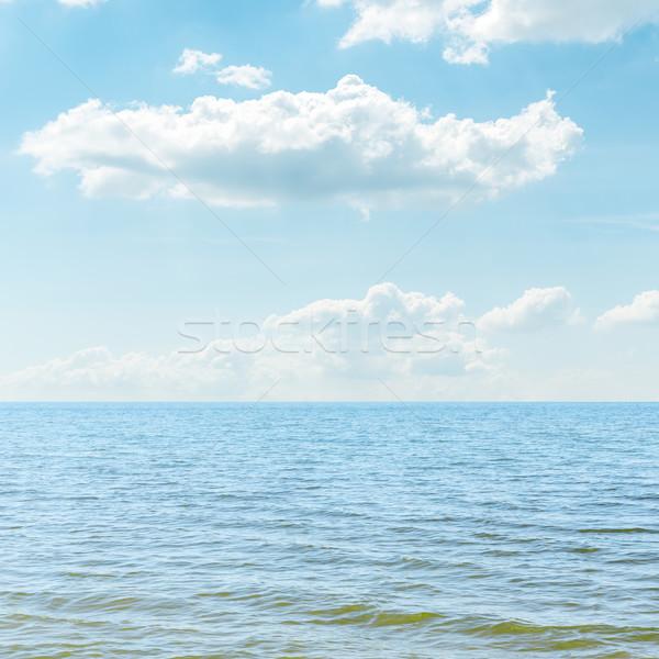 Blu mare nuvoloso cielo panorama sfondo Foto d'archivio © mycola
