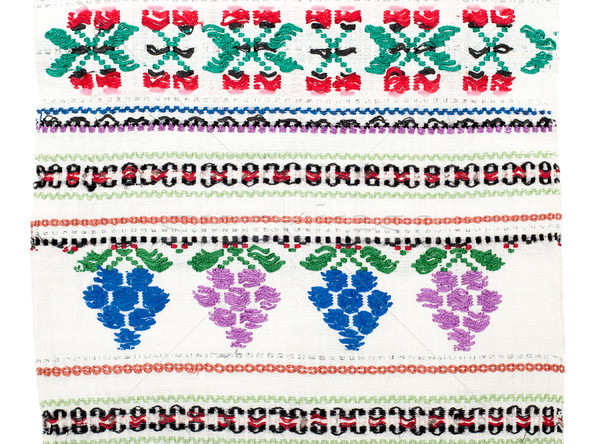 embroidered handmade good with ethnic pattern Stock photo © mycola
