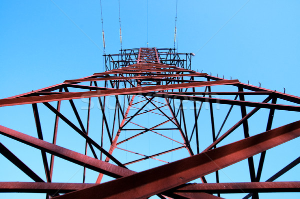 Stock photo: high voltage transmission tower