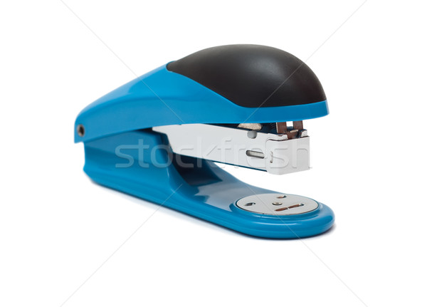 Stock photo: blue stapler