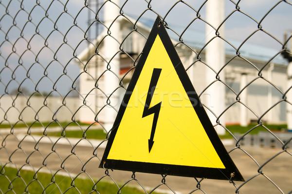 Alta tensione segno comunicazione nero potere Foto d'archivio © mycola