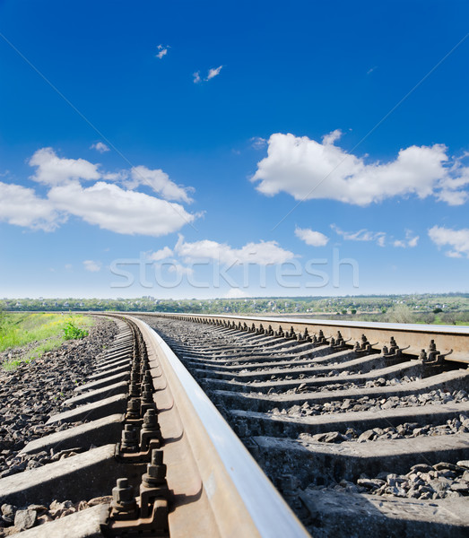 low view to railroad Stock photo © mycola