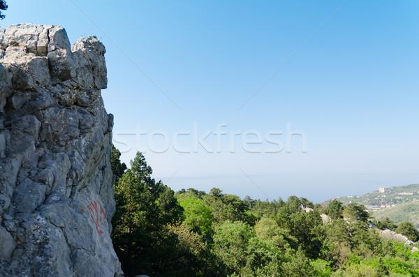 Rock mountain in Crimea, Ukraine Stock photo © mycola