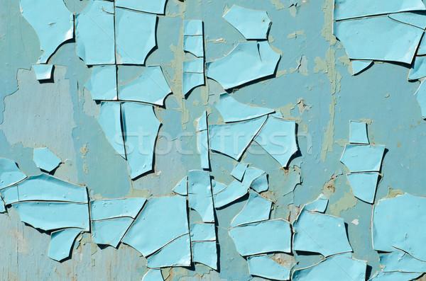 old blue paint texture closeup Stock photo © mycola