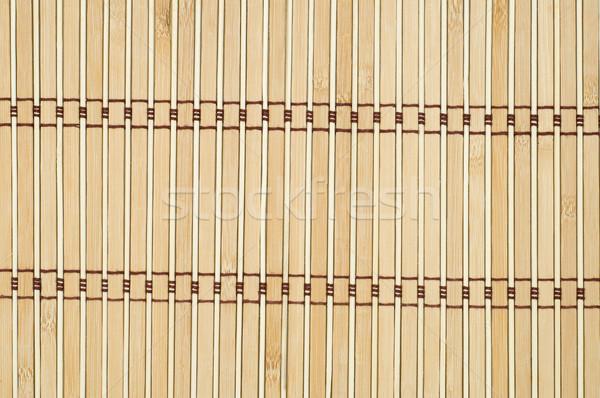 texture of bamboo mat close up Stock photo © mycola