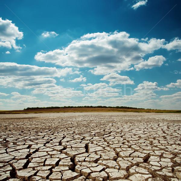 Droogte aarde dramatisch hemel textuur natuur Stockfoto © mycola