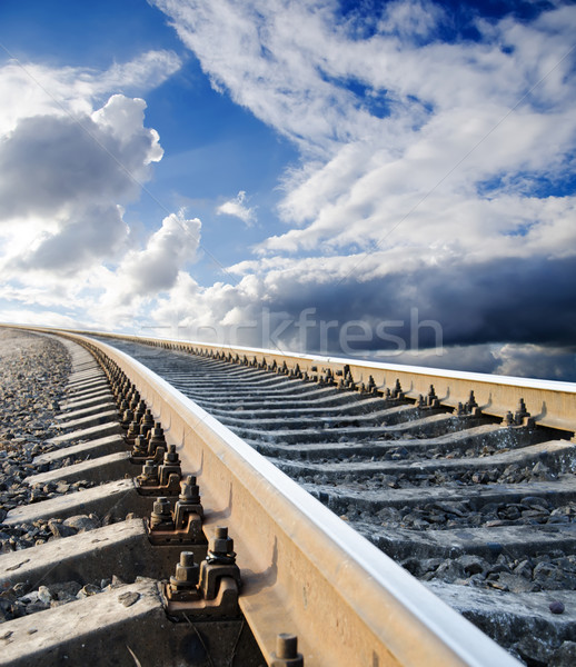 railway going in heaven Stock photo © mycola