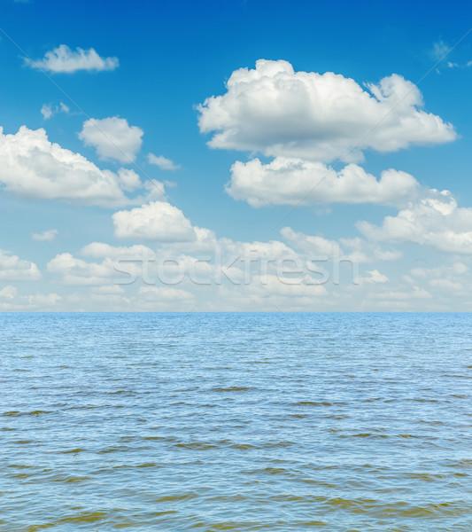 Bianco nubi cielo blu mare acqua Foto d'archivio © mycola