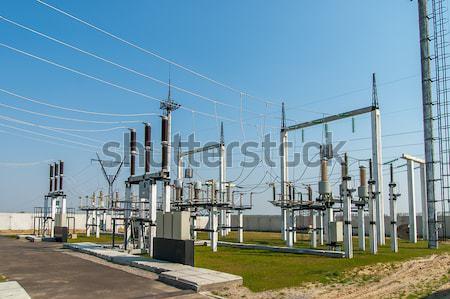 空 ネットワーク 業界 産業 電気 回路 ストックフォト © mycola