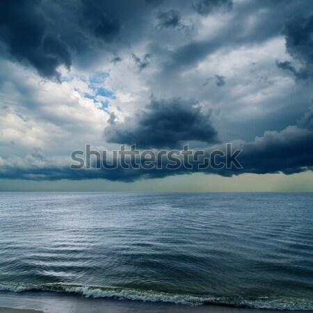 Foto stock: Dramático · céu · escuro · água · abstrato · natureza