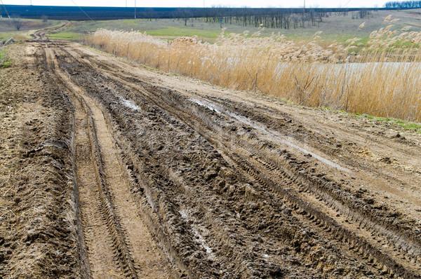 dirty road Stock photo © mycola