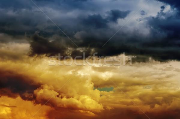dramatic sky at sunset Stock photo © mycola